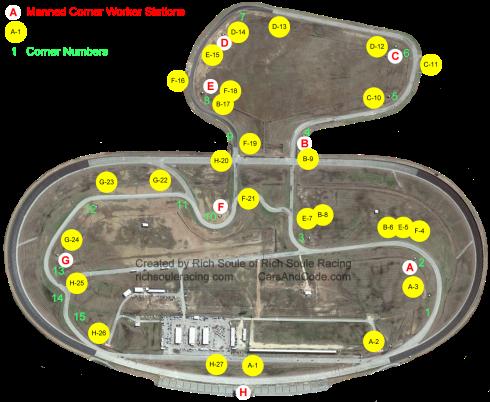 Texas World Speedway with Corner Worker Looks