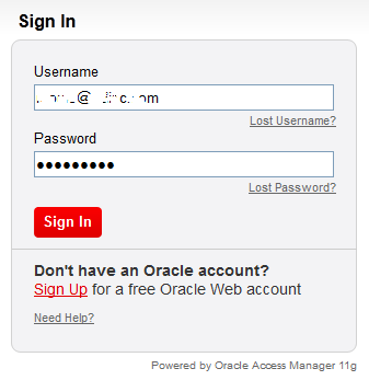Oracle.com Sign In