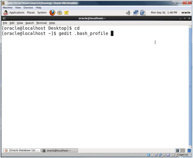 Oracle Database 12c on Oracle Linux 6 – Step 21: Edit the