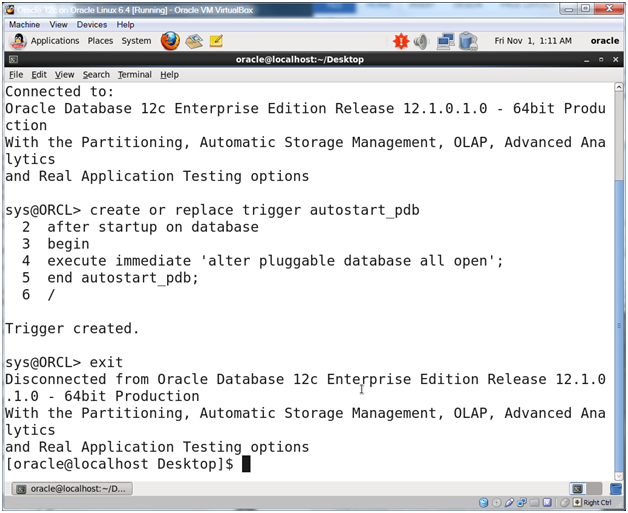 Oracle Database 12c on Oracle Linux 6 – Step 27: Configure the
