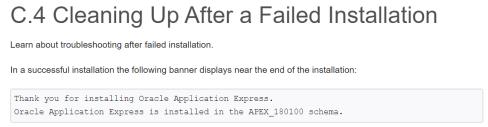 FailedAPEXInstall